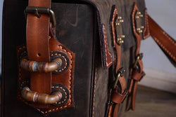 Leather Steampunk Box Camera or Travel Bag