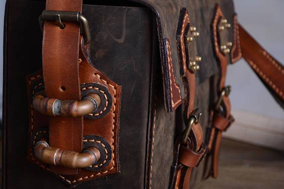 Leather Steampunk Box Camera or Travel Bag - Go Steampunk