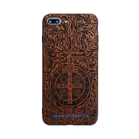 Original Bamboo Wood Phone Case For Iphone 7 7Plus 5 5S SE  6 6S Plus