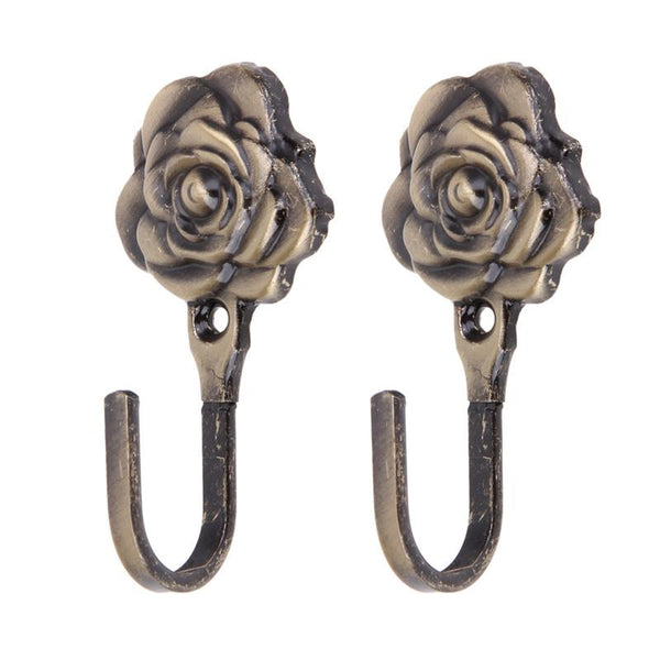 2PCS Rose Pattern Hook