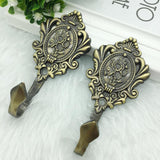 2pcs High Quality Metal Vintage curtain drapery hooks or hat hooks