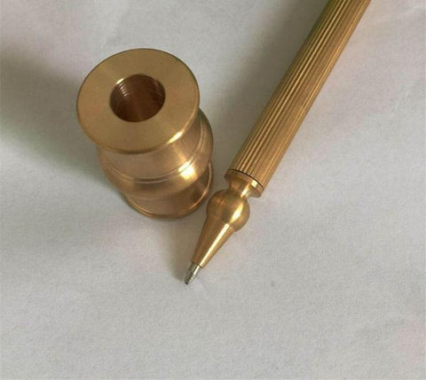 Luxury Brass Ball Point Pen and Stand