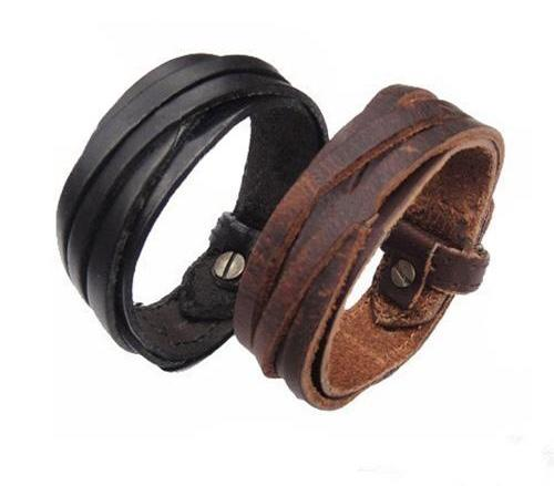 Unisex Multi Strap Leather Bracelet