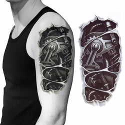 3D Mechanical Arm Temporary Tattoo