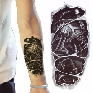 3D Mechanical Arm Temporary Tattoo - Go Steampunk