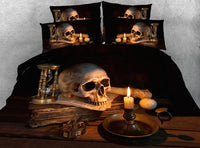 Beautiful Skull Bedding Set JF005 / Super King 4 Parts - Go Steampunk