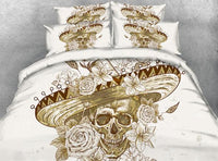 Beautiful Skull Bedding Set JF210 / Super King 4 Parts - Go Steampunk