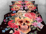 Beautiful Skull Bedding Set JF215 / Super King 4 Parts - Go Steampunk