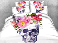 Beautiful Skull Bedding Set JF208 / Super King 4 Parts - Go Steampunk