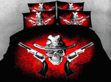 Beautiful Skull Bedding Set JF027 / Super King 4 Parts - Go Steampunk