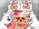 Beautiful Skull Bedding Set JF214 / Super King 4 Parts - Go Steampunk