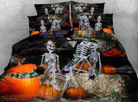 Beautiful Skull Bedding Set JF047 / Super King 4 Parts - Go Steampunk
