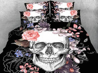 Beautiful Skull Bedding Set JF213 / Super King 4 Parts - Go Steampunk