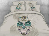 Beautiful Skull Bedding Set JF209 / Super King 4 Parts - Go Steampunk