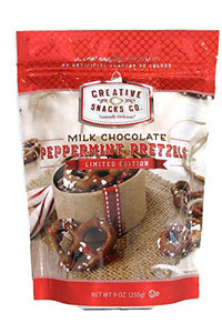 CREATIVE SNACKS: Cup Dark Chocolate Peppermint Pretzel, 10 oz