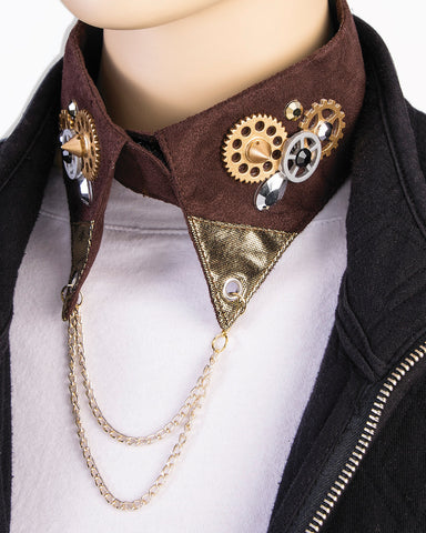 Steampunk Gear and Chains Collar Default Title - Go Steampunk
