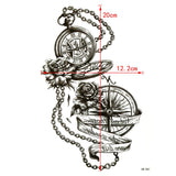 Pocket Watch and Compass Waterproof Temporary Tattoo - Go Steampunk