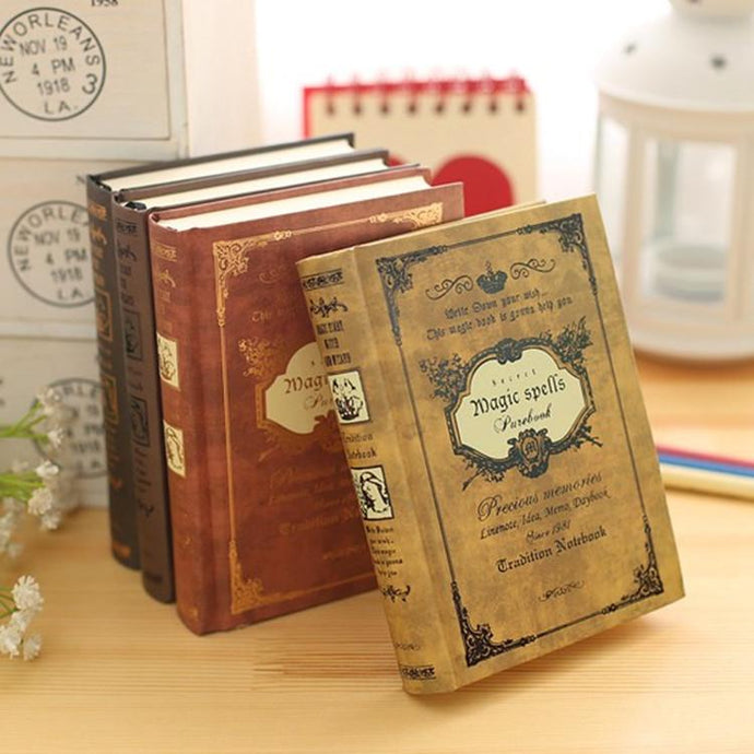 Vintage Handcover Magic Spells Pocket Book Planner Journal Diary - Go Steampunk