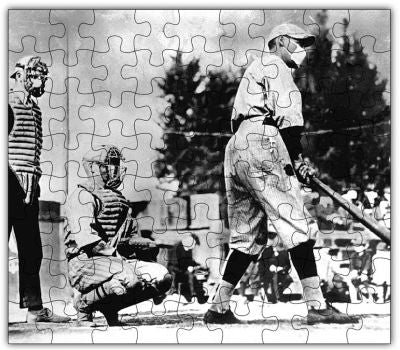 Spanish Flu Baseball Game Jigsaw Puzzle - Go Steampunk