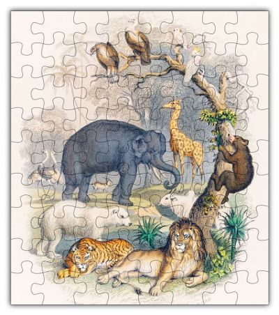 Vintage Zoo Animal Puzzle - Go Steampunk