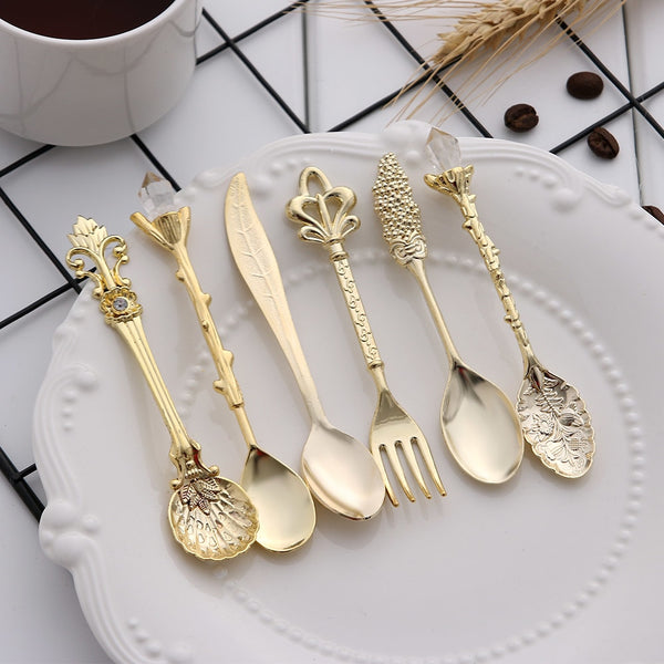 6PCS Vintage Mini High Tea Cutlery Set - Go Steampunk