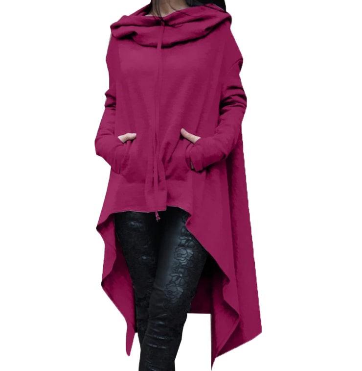 Long Pullover Plus Size Hoodie Purple / L - Go Steampunk