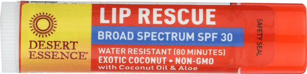 DESERT ESSENCE: Lip Balm Coconut SPF 30, .15 oz