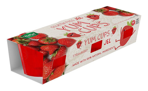 BAKOL: All Natural Yum Cups Strawberry Jel, 12 oz