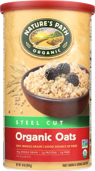 COUNTRY CHOICE: Organic Oven Toasted Oats Steel Cut, 30 oz - Go Steampunk