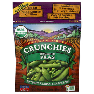 CRUNCHIES: Veggie Freeze Dried Peas Organic, 2.25 oz