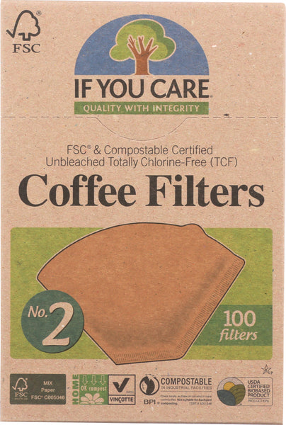 IF YOU CARE: Coffee Filters No. 2 Size, 100 Filters - Go Steampunk