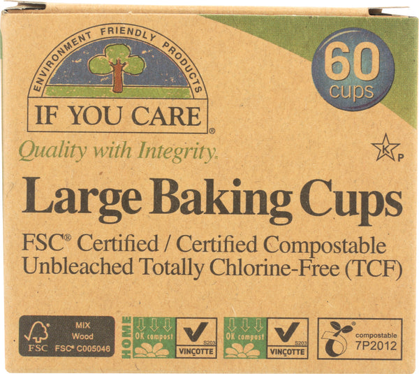 IF YOU CARE: Large Baking Cups, 60 Cups