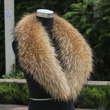 Natural Raccoon Fur Collar/ Scarf