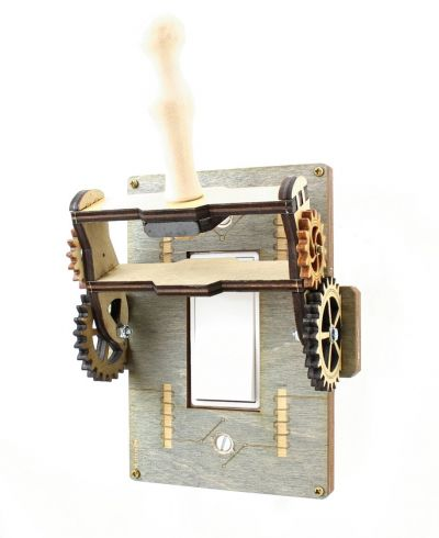Frankenstien Steampunk Light Switch Grey - Go Steampunk