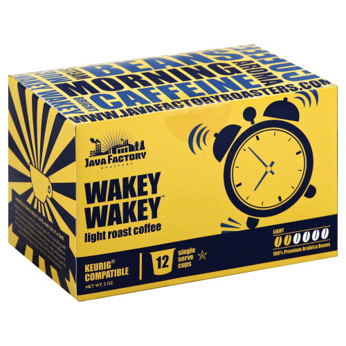JAVA FACTORY: Coffee Light Roast Wakey Wakey, 12 pc