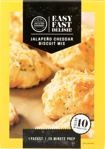 JUST IN TIME GOURMET: Jalapeno Cheddar Biscuit Mix, 8.79 oz
