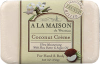 A LA MAISON DE PROVENCE: Hand & Body Bar Soap Coconut Cream, 8.8 oz