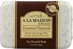 A LA MAISON: Soap Bar Earth Spa Coconut Charcoal, 8.8 oz