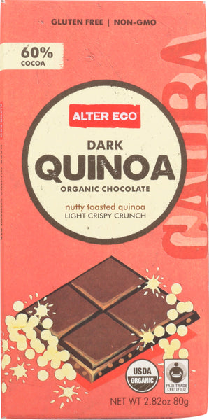 ALTER ECO: Organic Chocolate Dark Quinoa, 2.82 oz - Go Steampunk