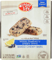 ENJOY LIFE: Bar Snack Lemon Blueberry Poppy Seed, 5.75 oz