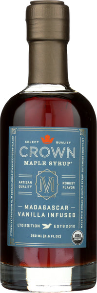CROWN MAPLE: Madagascar Vanilla Maple Syrup, 8.5 fo