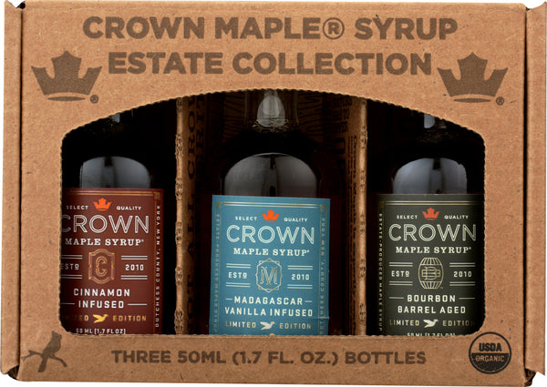 CROWN MAPLE: Artisan Trip Maple Syrup, 3 pk