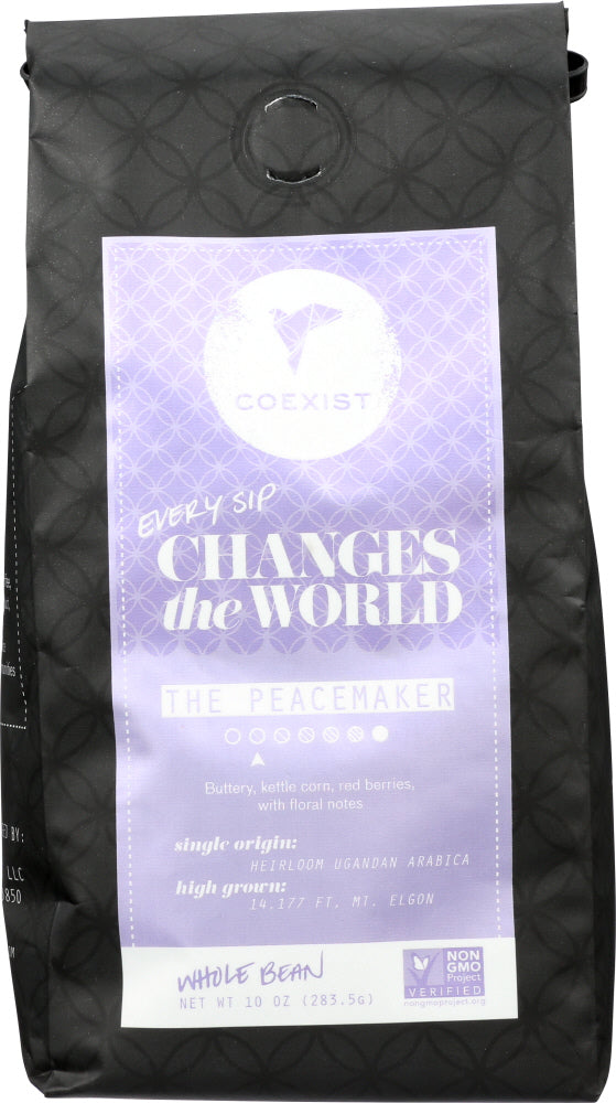 COEXIST: Coffee Peacemaker Whole Bean, 10 oz