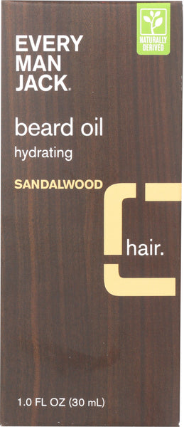 EVERY MAN JACK: Sandalwood Beard Oil, 1 oz