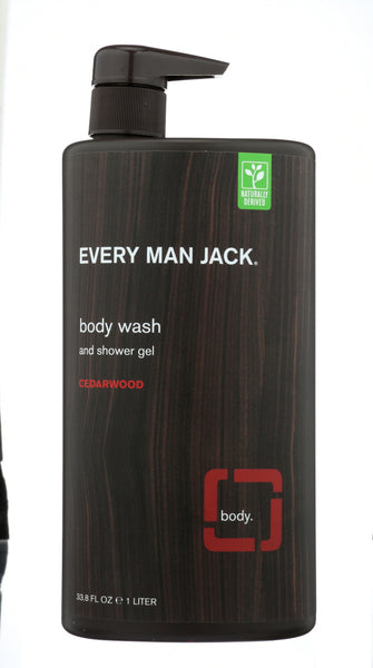 EVERY MAN JACK: Cedarwood Body Wash, 33.8 oz