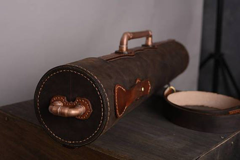 Leather Steampunk Architect Tube