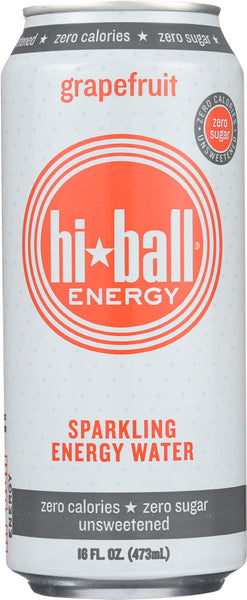 HI BALL ENERGY: Grapefruit Sparkling Energy Water, 16 oz