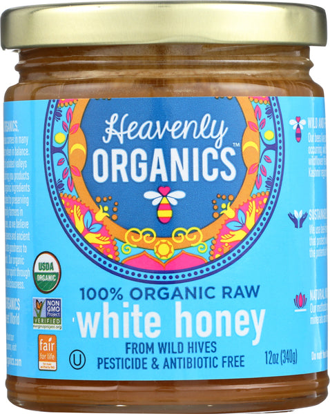 HEAVENLY ORGANICS: White Himalayan Raw Honey, 12 oz - Go Steampunk