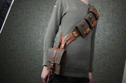 Steampunk Adventurer Leather Bandolier