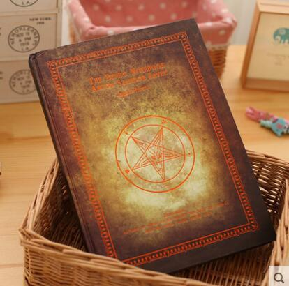 Vintage Pentagram Blank Notebook